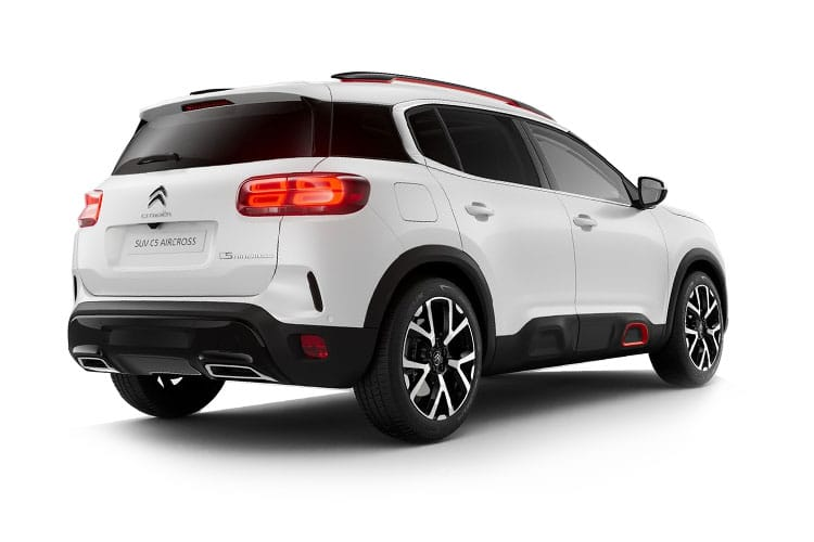 Citroen C5 Aircross SUV 1.6 PHEV 13.2kWh 225PS Shine Plus 5Dr e-EAT8 [Start Stop] back view