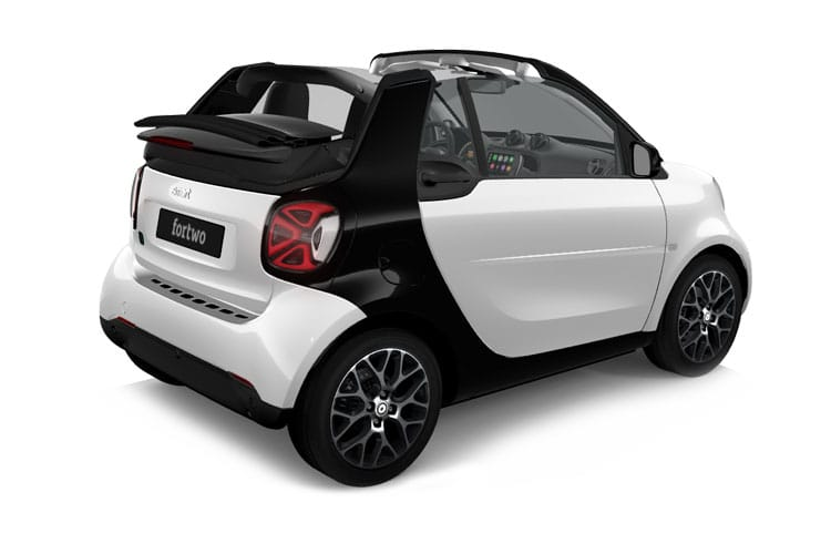 Smart ForTwo EQ ForTwo Cabriolet 2Dr Elec Drv 17.6kWh 60KW 82PS Exclusive 2Dr Auto [22kW Charger] back view