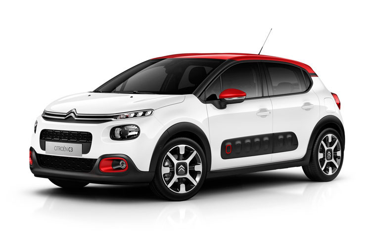 Citroen C3 Hatch 5Dr 1.5 BlueHDi 100PS Shine Plus 5Dr Manual [Start Stop] front view