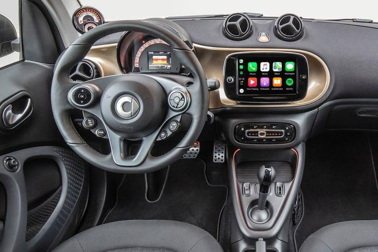 Smart ForTwo EQ ForTwo Cabriolet 2Dr Elec Drv 17.6kWh 60KW 82PS Exclusive 2Dr Auto [22kW Charger] inside view